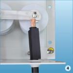 Надеть на ППС термоусаживаемую трубку (ТУТ), далее обжать наконечник на разделанном конце провода ППС